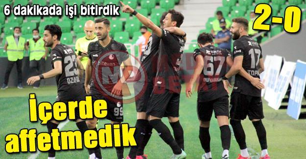 Sakaryaspor 2 golle güldü! 2-0