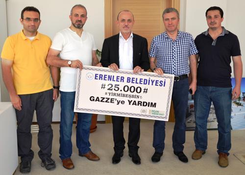 Gazze için 25 bin lira toplandı