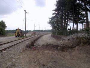Hızlı Tren rayları döşeniyor