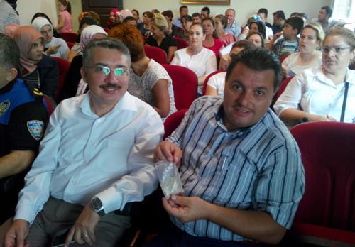 Yunus Çiloğlu öğretmenlerine bonzai semineri