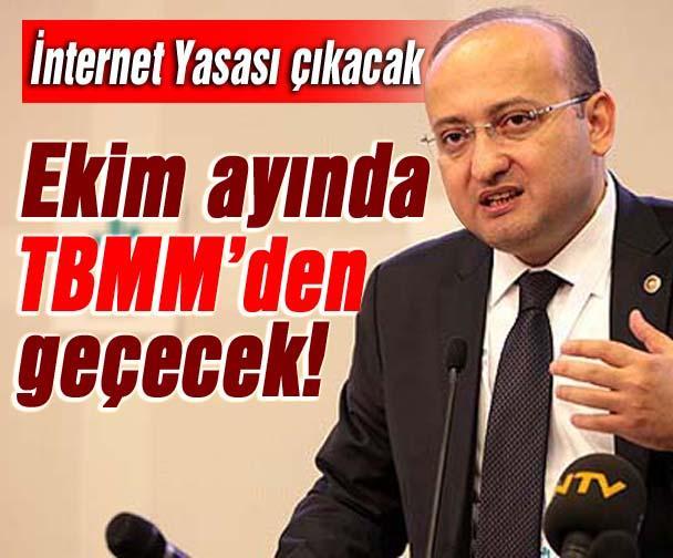 İnternet Yasası Ekim ayında TBMM'de olacak