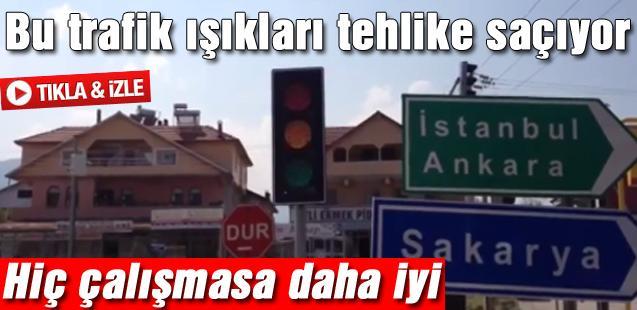 Bu trafik ışıkları tehlike saçıyor!