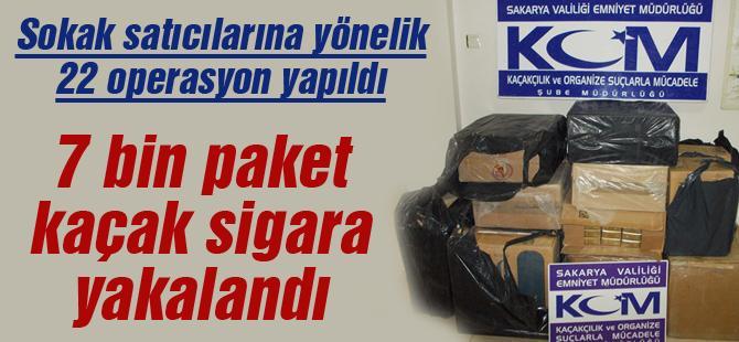 7 bin paket kaçak sigara yakalandı
