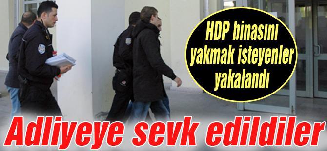 HDP binasını yakmak isteyenler yakalandı
