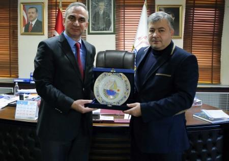 Kardeş Belediye Komrat'tan Başkan Yılmazer'e ziyaret