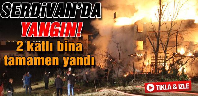 Serdivan'da yangın!