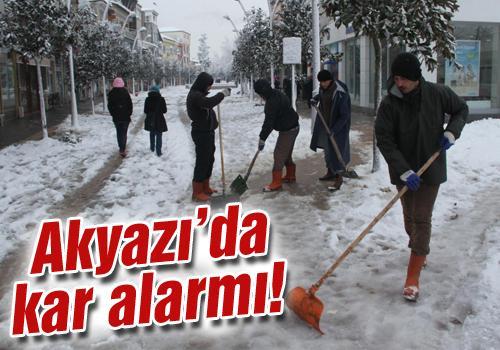 Kar yağışının başlamasıyla ekipler harekete geçti