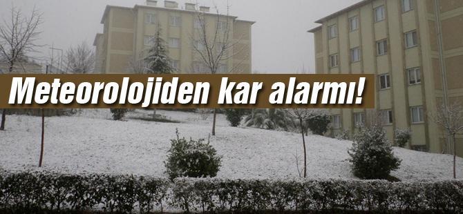 Meteorolojiden kar alarmı!
