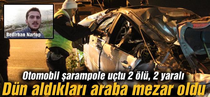 Otomobil şarampole uçtu 2 ölü, 2 yaralı