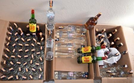 219 Adet sahte bandrollü içki ele geçirildi