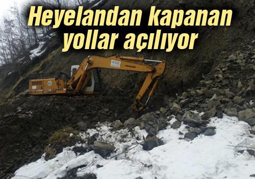 Akyazı'da heyelan bölgesine anında müdahale