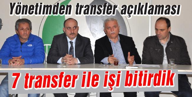 Sakaryaspor 7 transferle işi bitirdi