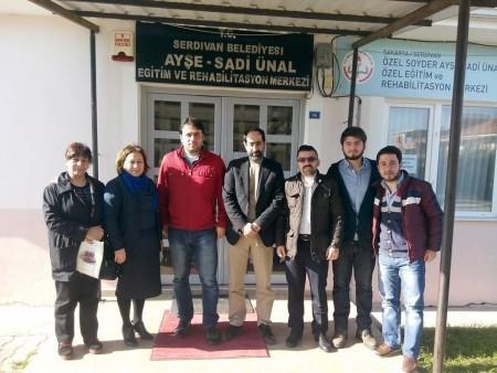 Trabzonlular derneğinden rehabilitasyon merkezine ziyaret