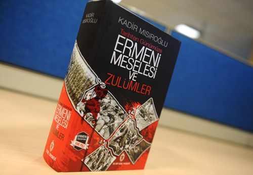 """Kadir Mısıroğlu'ndan """"Ermeni meselesi ve zulümler""""  kitabı"""