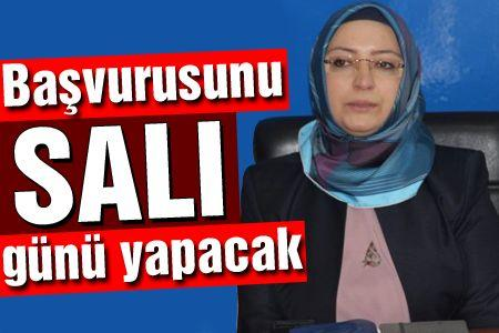 Çiğdem Erdoğan Atabek aday adaylığı başvurusunu yapıyor