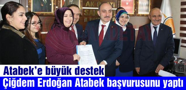 Çiğdem Erdoğan Atabek  başvurusunu yaptı