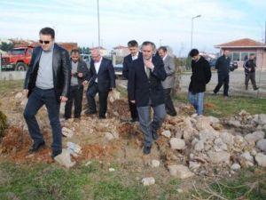 300 kişilik yurt inşaatının temeli atıldı