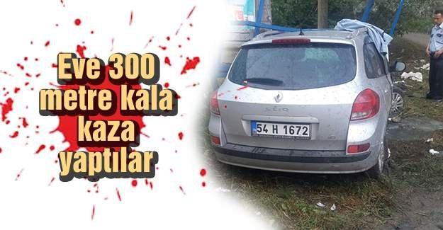 Akyazı'daki kazada 4 kişi yaralandı