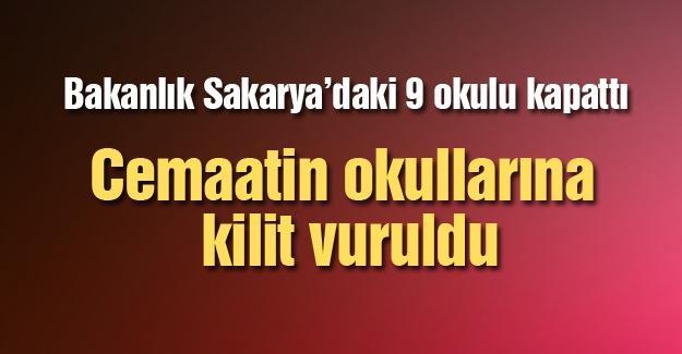 Bakanlık Sakarya'daki 9 okulu kapattı
