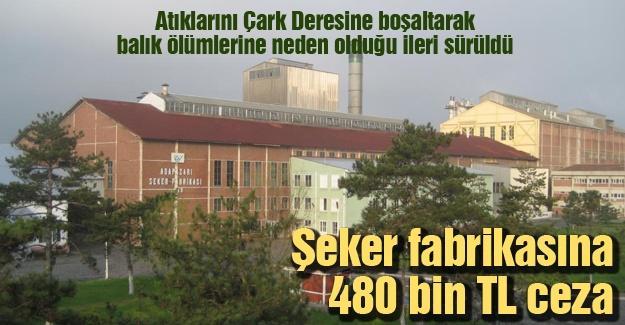 Şeker fabrikasına 480 bin TL para cezası