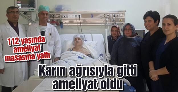 112 yaşında ameliyat masasına yattı