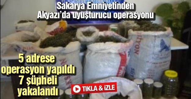 Sakarya Emniyetinden Akyazı'da uyuşturucu operasyonu