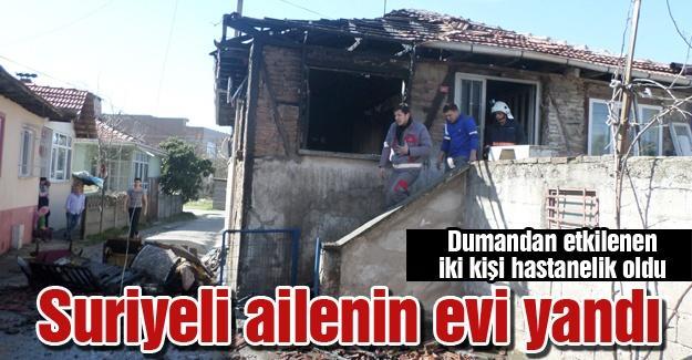 Suriyeli ailenin evi yandı
