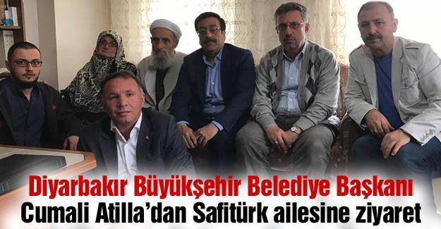 Diyarbakır Büyükşehir Belediye Başkanı Cumali Atilla'dan Safitürk ailesine ziyaret