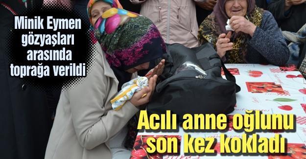 Acılı anne oğlunu son kez kokladı