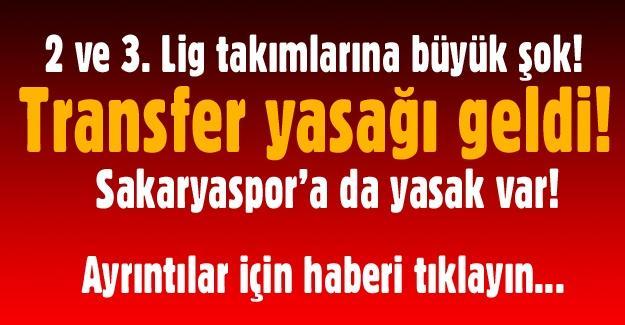 Sakaryaspor'a transfer yasağı geldi!