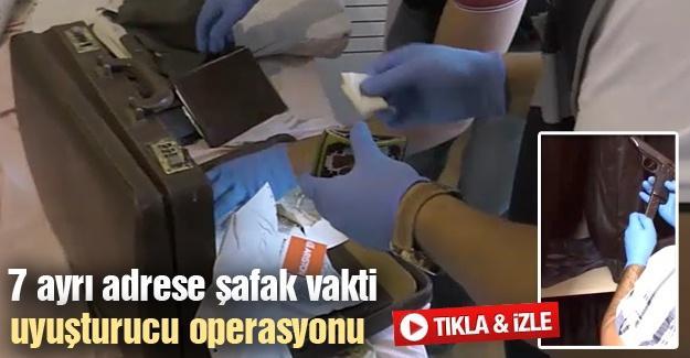 7 ayrı adrese şafak vakti uyuşturucu operasyonu