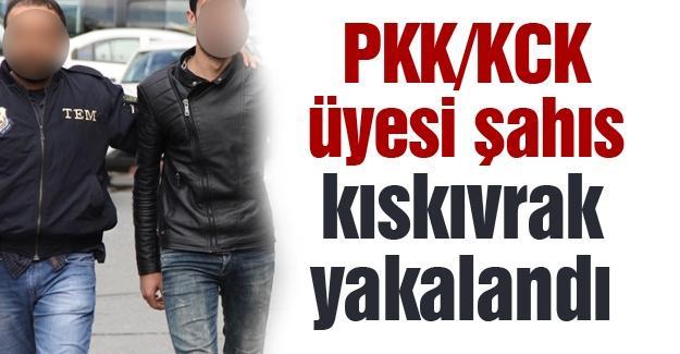 PKK/KCK üyesi şahıs  kıskıvrak yakalandı