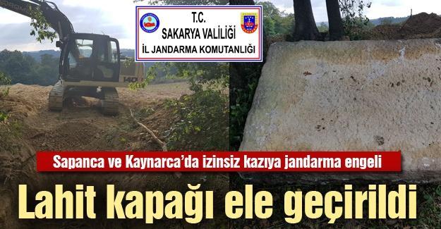 Sapanca ve Kaynarca'da izinsiz kazıya jandarma engeli