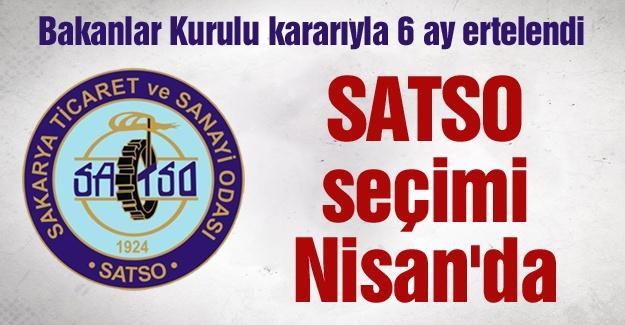 SATSO seçimi Nisan'da yapılacak