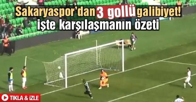 İşte Sakaryaspor'un 3 gollü galibiyetinin özeti