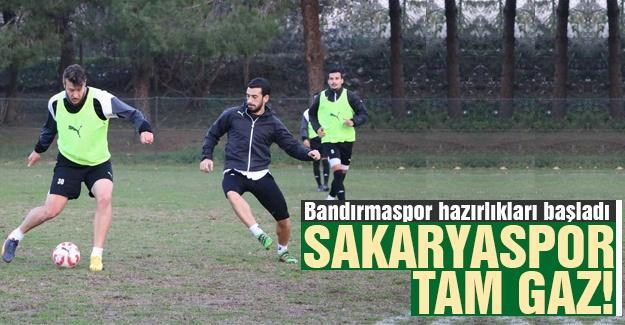 Sakaryaspor'da Bandırmaspor hazırlıkları başladı