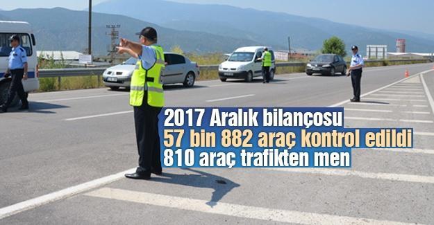 57 bin 882 araç kontrol edildi