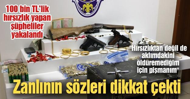 100 bin TL'lik hırsızlık yapan şüpheliler yakalandı