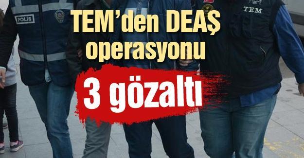 TEM'den DEAŞ operasyonu! 3 gözaltı