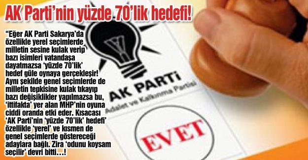 AK Parti'nin yüzde 70'lik hedefi!…
