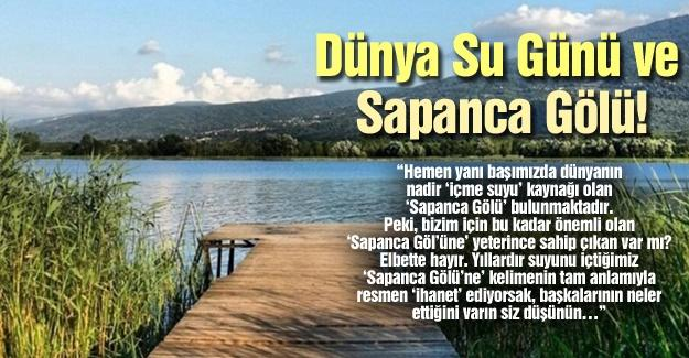 Dünya Su Günü ve Sapanca Gölü!…