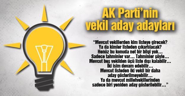 AK Parti'nin vekil aday adayları