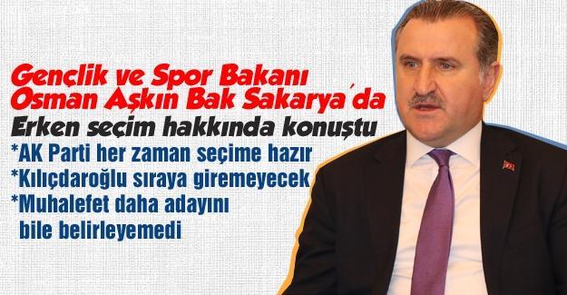Bakan Osman Aşkın Bak, Sakarya'da
