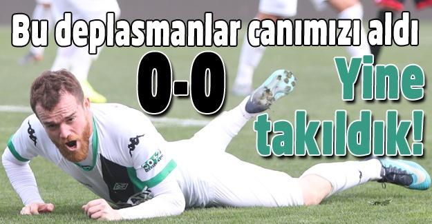 Sakaryaspor yine takıldı! 0-0