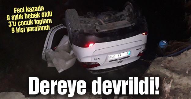 Taraklı'da feci kaza! 1 ölü 9 yaralı