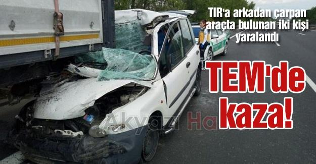 TIR'a arkadan çarptı!
