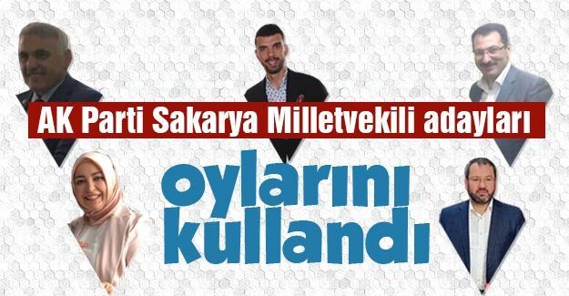 AK Parti Sakarya Milletvekili adayları oylarını kullandı