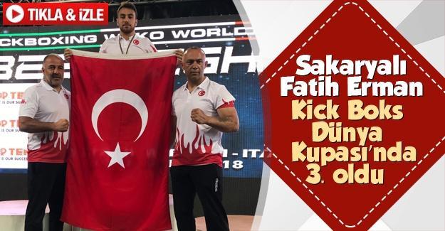 Kickboks'ta dünya 3.'sü oldu