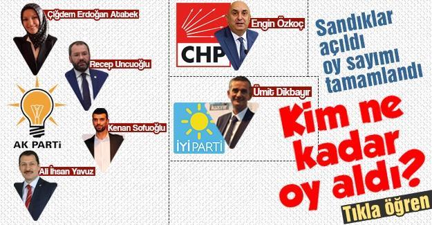 Sakarya'da oy sayımı tamamlandı