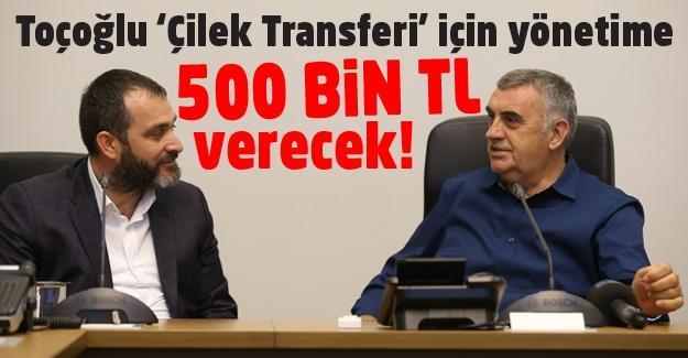 Toçoğlu'dan Sakaryaspor'a transfer desteği